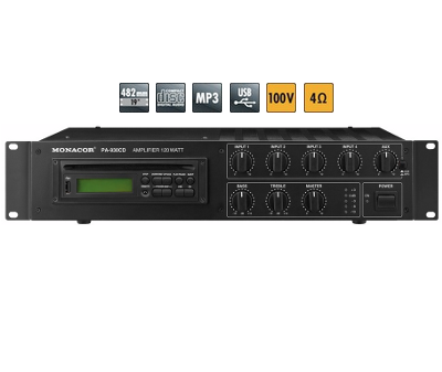 pa 930cd 1 - Location PA-930CD Amplificateur-Mixeur Public Adress mono lecteur CD