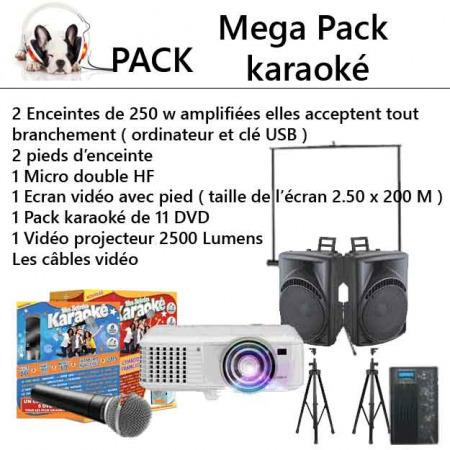 pack mega karaoke 2 450x450 - Location méga Pack karaoké complet : kit éclairage et sonorisation