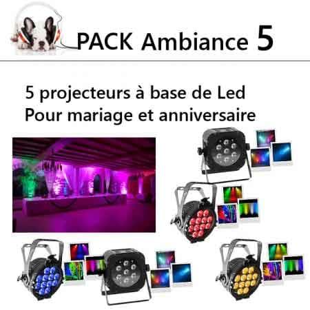pack ambiance lumiére mariage anniversaire 5 450x450 - Location  5 projecteurs à Led par 5 pièces