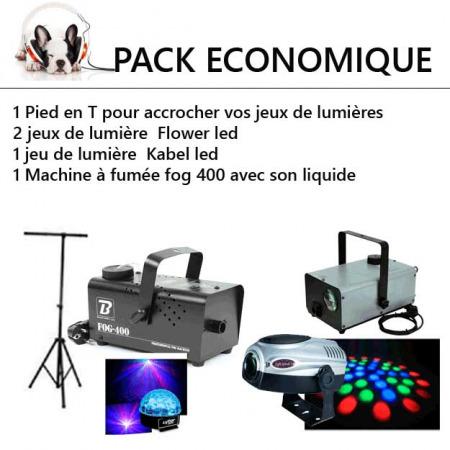 big eco 12 450x450 - Location Pack lumière Economique : kit éclairage et machine a fumée