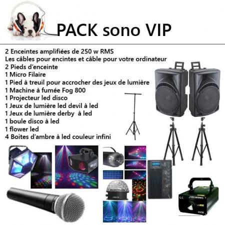 pack vip sono 450x450 - Location Pack sono et lumière : kit éclairage et sonorisation