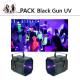 pack Black Gun UV 80x80 - Location barre de led motorisé, effets professionnel