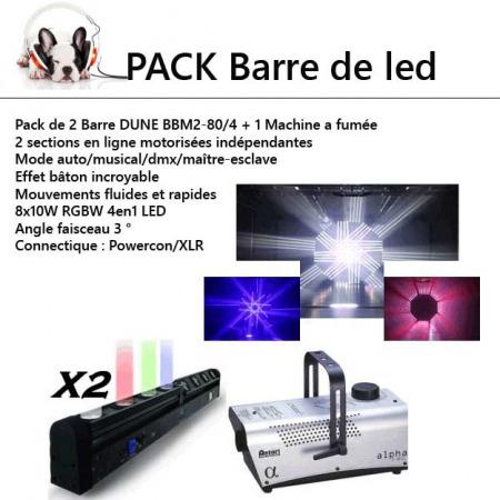 pack led sono 450x450 - location pack éclairage : 2 barre leds motorisés et une machine à fumée