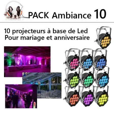 pack ambiance lumiére mariage anniversaire 10 450x450 450x450 - Location pack ambiance : 10 projecteurs a led kit d'éclairage