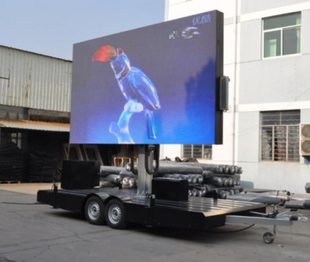 Ckgled Outdoor LED Trailer Display Screen Panel for Advertising 450x381 - Ecran LED sur Remorque