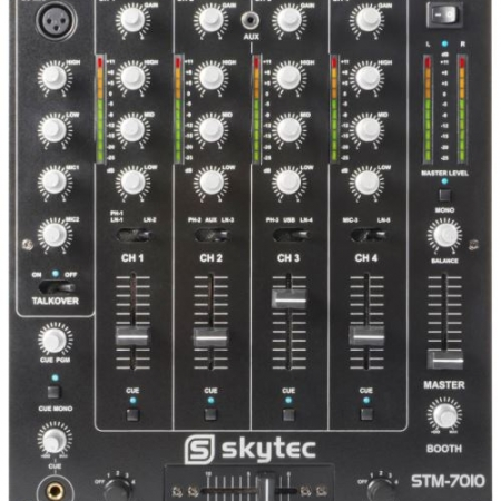 Skytec STM 7010 Table de mixage DJ 4 canaux USB MP3 EQ 450x450 - Location table de mixage DJ 4 canaux : console skytec stm-7010