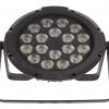 par led penta 40 3 100x100 - PENTA 40 : PAR SLIM LED 18 x 10W IP65 pour éclairage extérieur même par temps de pluie.