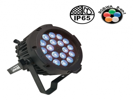 par led penta 40 450x338 - PENTA 40 : PAR SLIM LED 18 x 10W IP65 pour éclairage extérieur même par temps de pluie.