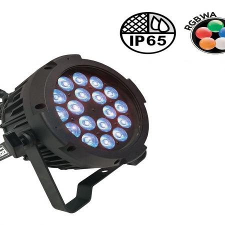 par led penta 40 450x450 - PENTA 40 : PAR SLIM LED 18 x 10W IP65 pour éclairage extérieur même par temps de pluie.