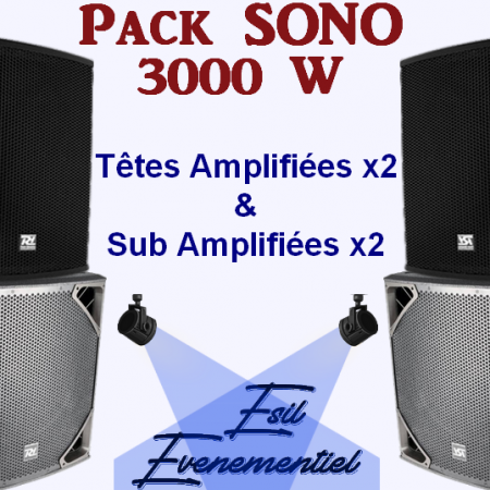 pack sono blanc 450x450 - Ambiance Certifier avec ce Pack Sono 3000 W