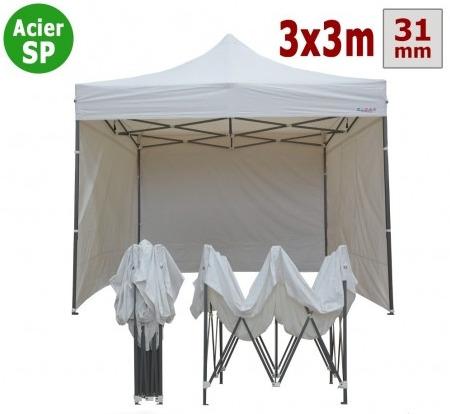 barnum acier semi pro 3mx3m blanc avec pack 4 cotes e1624631770463 450x414 - Tente Vitabri